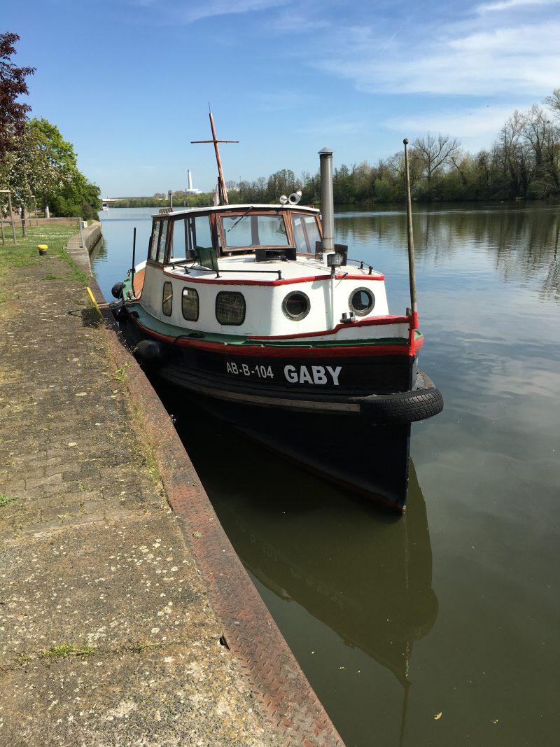Manövertraining mit der Gaby: Anlegen am Ufer